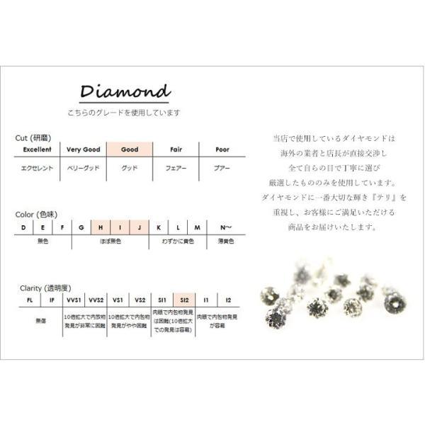 K18 ダイヤモンド0.06ctリング 月桂樹 リーフモチーフ 自然 ローリエ ダイヤモンドチャーム 揺れる リング 指輪 ネックレスセット
