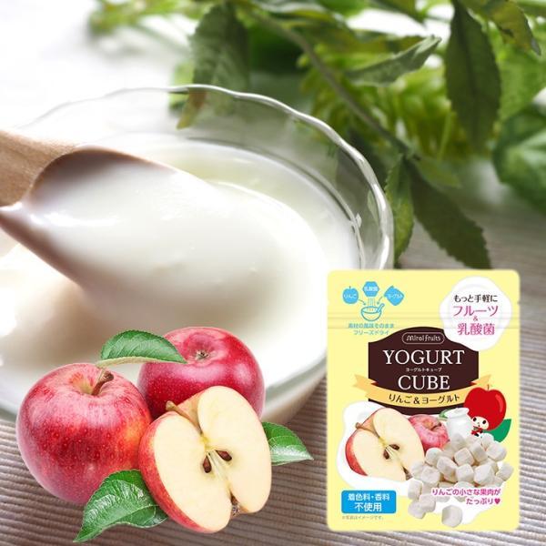 フリーズドライ フルーツ 食品 おやつ 赤ちゃん ヨーグルトキューブ りんご 16g ヨーグルト ベビーフード 防災 petittomall