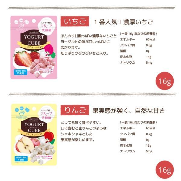 フリーズドライ 食品 フルーツ 無添加  砂糖不使用  yogurt cube ヨーグルトキューブ 未来果実 りんご 16g 10パックセット 無添加 ヨーグルト ベビーフード|petittomall|11