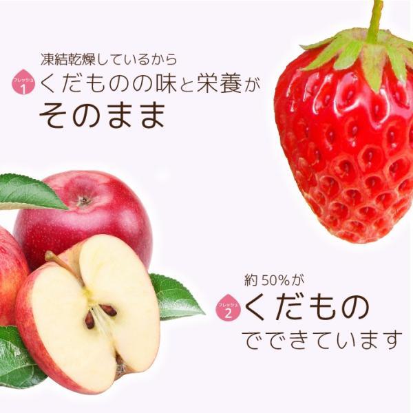 フリーズドライ 食品 フルーツ 無添加  砂糖不使用  yogurt cube ヨーグルトキューブ 未来果実 りんご 16g 10パックセット 無添加 ヨーグルト ベビーフード|petittomall|05