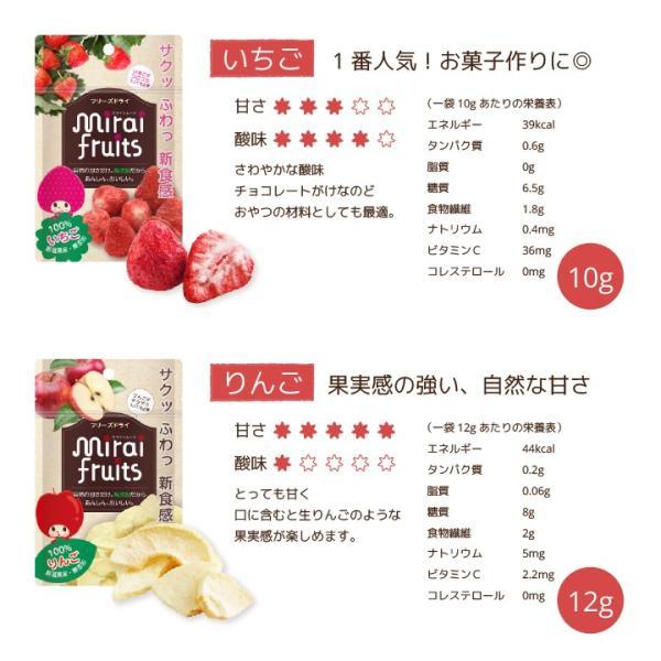 フリーズドライ  食品 フルーツ mirai fruits ミライフルーツ いちご りんご バナナ パイナップル みかん メロン 2種類選べる5+5個セット 無添加 砂糖不使用|petittomall|06