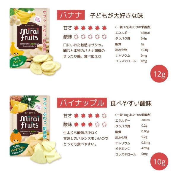 フリーズドライ  食品 フルーツ mirai fruits ミライフルーツ いちご りんご バナナ パイナップル みかん メロン 2種類選べる5+5個セット 無添加 砂糖不使用|petittomall|07