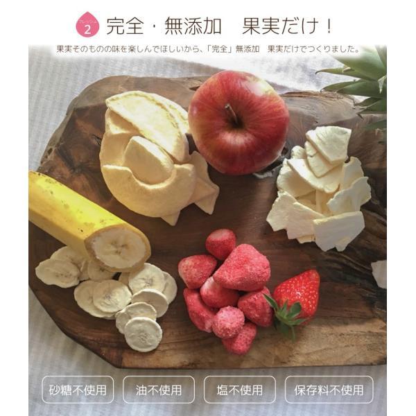 フリーズドライフルーツ mirai fruits ミライフルーツ  いちご りんご バナナ パイナップル みかん メロン 選べる2パックセット 無添加 ベビーフード 防災 petittomall 04