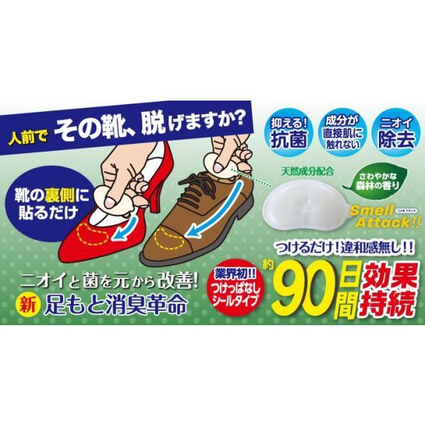 靴 消臭 抗菌 スメルアタック メンズ 一足分 2個入り 左右用 天然 由来 成分 Smell Attack!! ポイント消化|petittomall|02