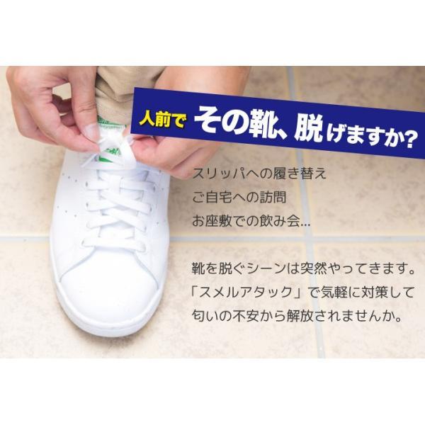 靴 消臭 抗菌 スメルアタック メンズ 一足分 2個入り 左右用 天然 由来 成分 Smell Attack!! ポイント消化|petittomall|04