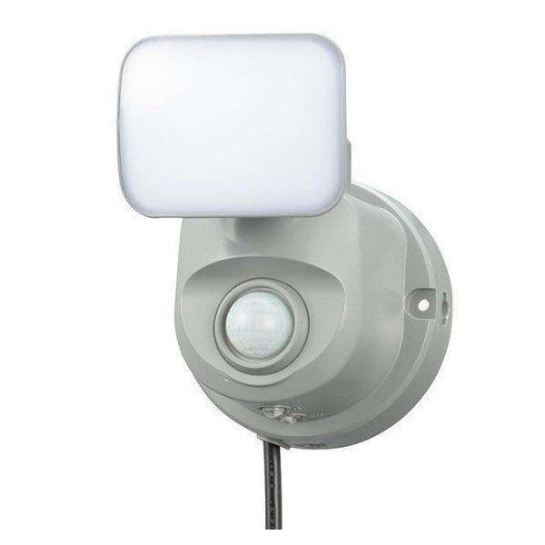 LEDセンサーライト 人感・明暗 コンセント式 1灯 OSE-LS400 オーム電機 (D)1灯式 人感センサー搭載 明暗センサー搭載 屋内設置可 屋外設置可 クランプ式設置可能