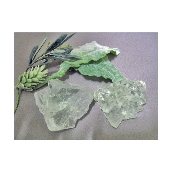 グリーンフローライト 原石 中国産 フローライト 蛍石 天然石 パワーストーン うっすらグリーンとオーロラのようなレインボーがとても綺麗!! 癒し|petora