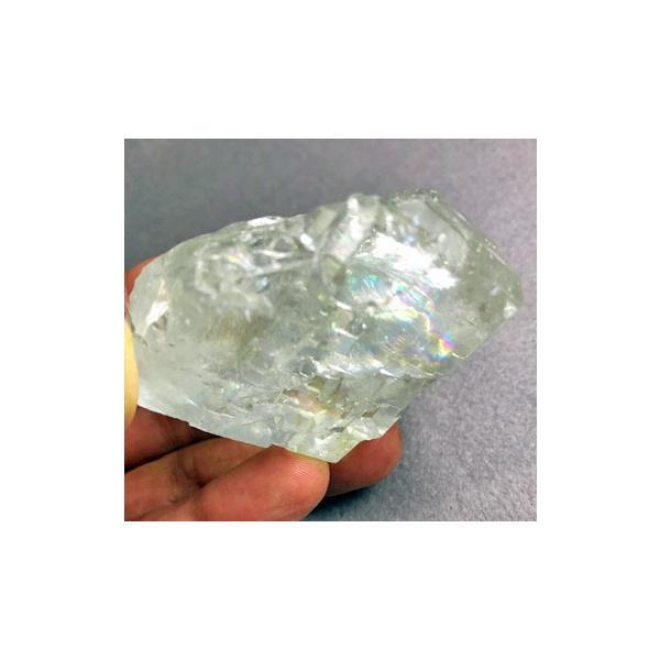 グリーンフローライト 原石 中国産 フローライト 蛍石 天然石 パワーストーン うっすらグリーンとオーロラのようなレインボーがとても綺麗!! 癒し|petora|07