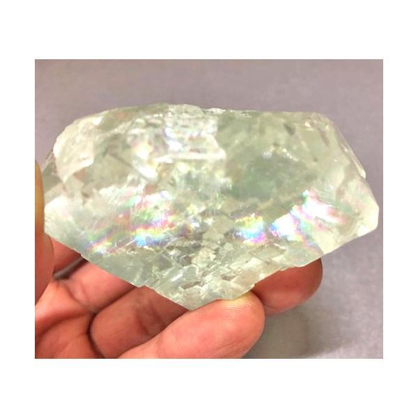 グリーンフローライト 原石 中国産 フローライト 蛍石 天然石 パワーストーン うっすらグリーンとオーロラのようなレインボーがとても綺麗!! 癒し|petora|08