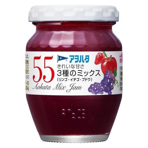 アヲハタ 55 3種のミックス(リンゴ・イチゴ・ブドウ)150g