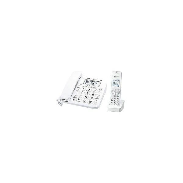 パナソニックコードレス電話機(子機1台付き)ホワイトVE-GD26DL-W