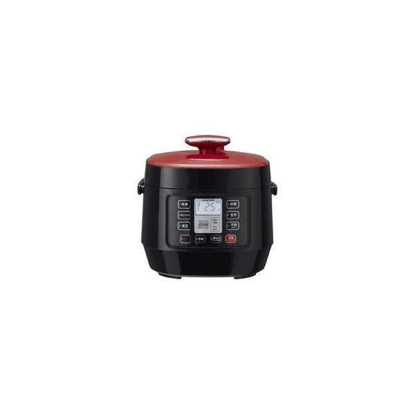 簡単調理 簡単圧力鍋 圧力鍋 電気圧力鍋 小泉 KOIZUMI KSC3501R レッド マイコン電気圧力鍋 赤色圧力鍋|petslove