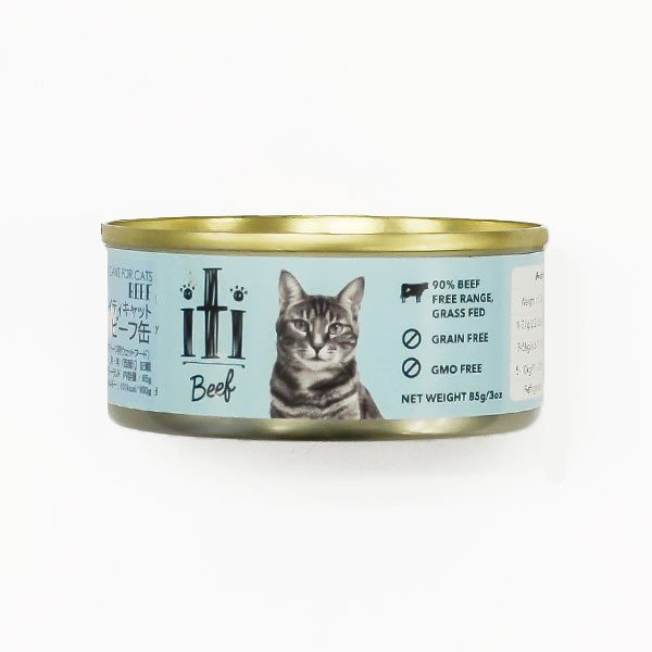 猫缶 キャットフード 無添加 穀物不使用 牛肉 iti(イティ) キャット ビーフ缶|petspa