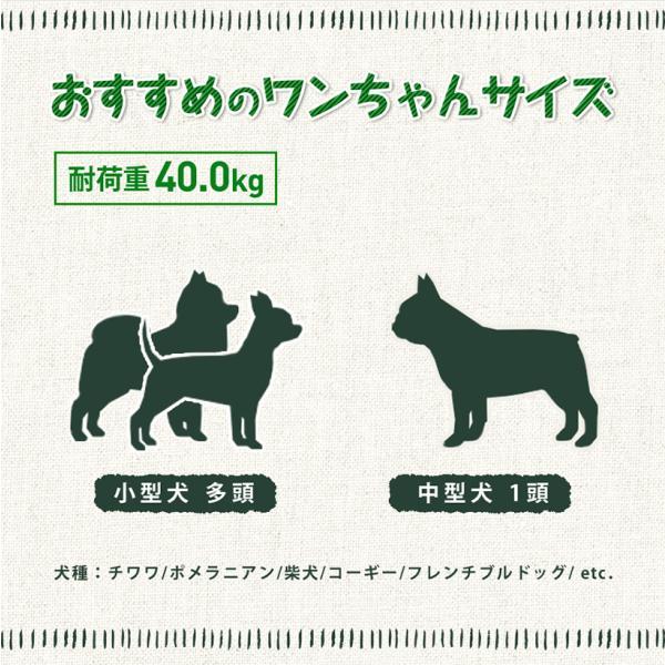ピッコロカーネ タント TANTO 多頭 中大型犬用 (〜30kg) ペットカート キャリー取り外しタイプ 送料無料  3つの特典付き|petspa|13