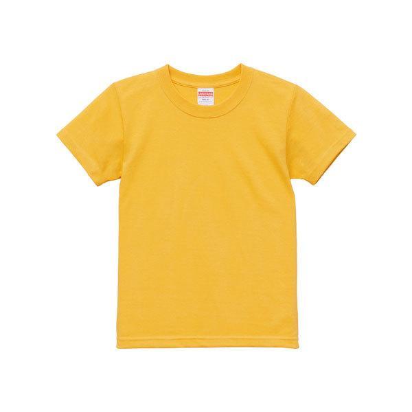 Tシャツ キッズ ボーイズ ガールズ 半袖 無地 uネック 厚手 綿 綿100 シャツ tシャツ スポーツ 子供服 クルーネック 男 女 90 100 110 120 130 140 150 160 黄色|petstore