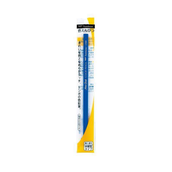 (まとめ) トンボ鉛筆 色鉛筆1500青 5本組〔×20セット〕