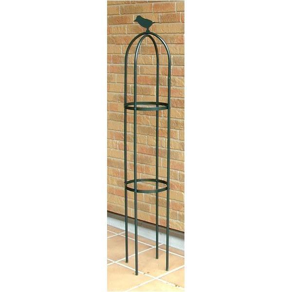 フラワースタンド/花台 〔直径25cm×高さ120cm〕 脚4本付 防サビ加工 スチールパイプ製 日本製 『ミニオベリスク アリビオ』