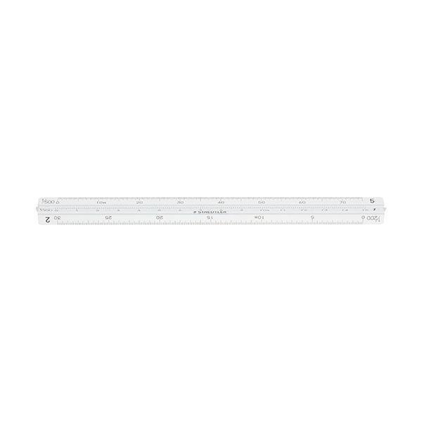 (まとめ)ステッドラー フルアルミ三角スケールポケット型 一般用 15cm 987 15-11 1個〔×5セット〕