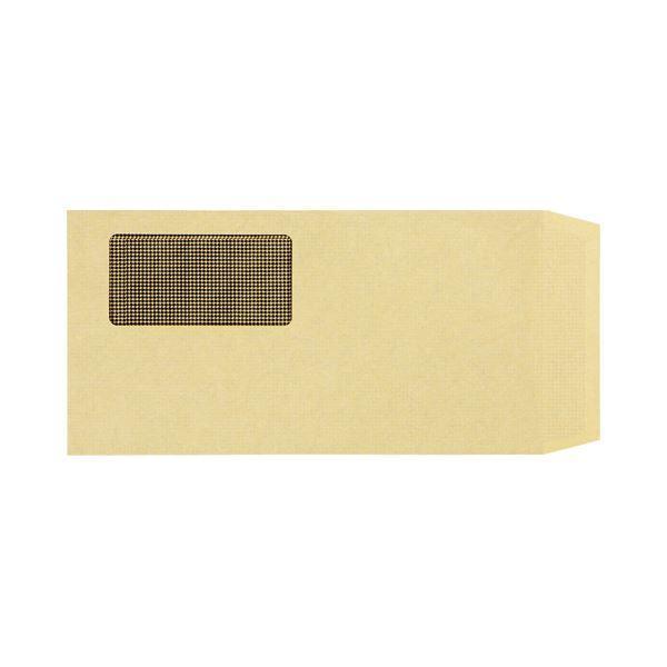 (まとめ)TANOSEE 窓付封筒 裏地紋付 ワンタッチテープ付 長3 70g/m2 クラフト 業務用パック 1箱(1000枚)〔×3セット〕