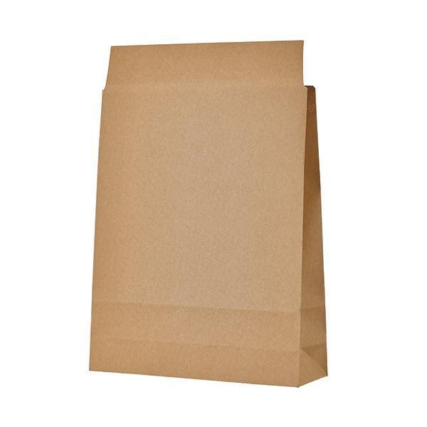 (まとめ) TANOSEE 宅配袋 小 茶封かんテープ無し 1パック(100枚) 〔×5セット〕