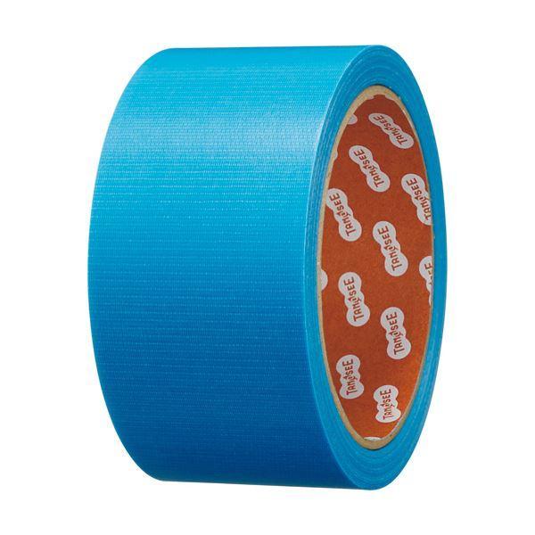 (まとめ)TANOSEE カラー養生テープ 50mm×25m 青 1巻 〔×10セット〕