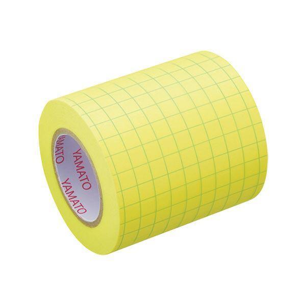 (まとめ)ヤマト メモック ロールテープ(ノート)蛍光紙 方眼入 つめかえ用 50mm幅 レモン NRK-50H-LH 1巻 〔×30セット〕