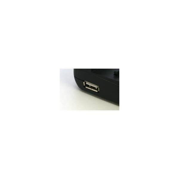 マルチバッテリー充電器〈エコモード搭載〉 NB-1L/1LH(キヤノン)用アダプターセット USBポート付 変圧器不要
