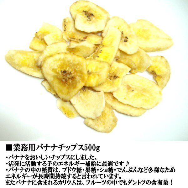 業務用バナナチップス500g 無添加 無着色 犬用|petyafuupro|02