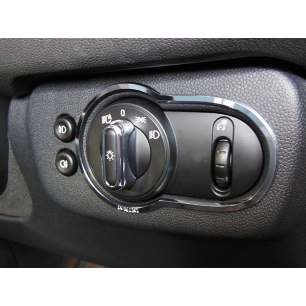 BMW MINI F54 ライトスイッチトリム (クローム) ミニクーパー クラブマン 内装パーツ|peyton