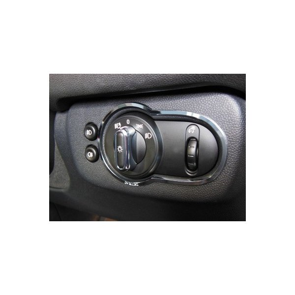 BMW MINI F56 ライトスイッチトリム (クローム) ミニ 内装パーツ|peyton