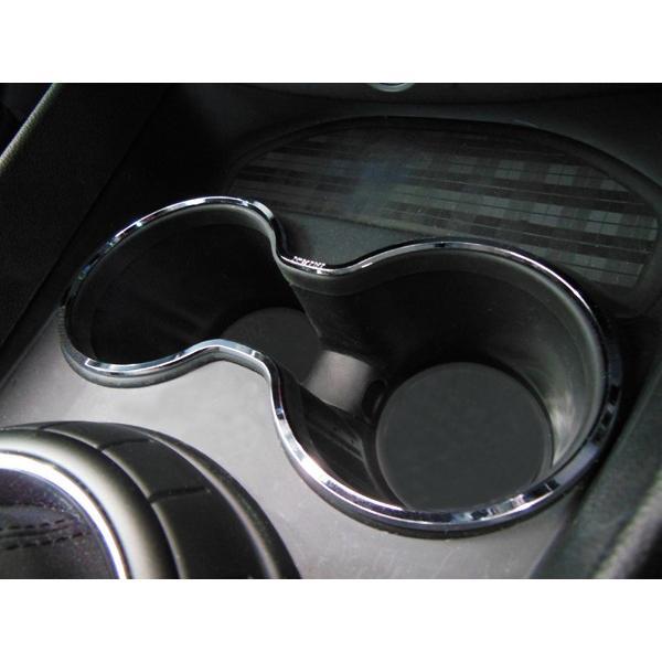 BMW MINI F54 フロントドリンクホルダーリング (クローム) ミニクーパー クラブマン 内装パーツ|peyton
