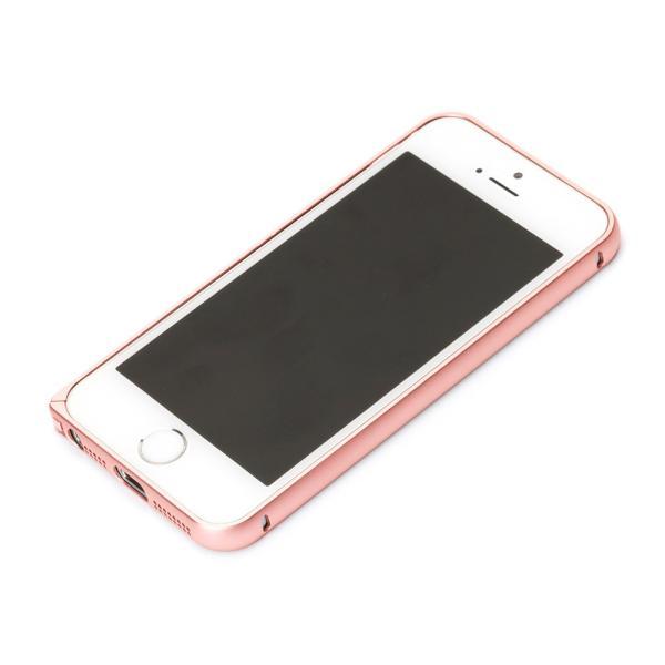 53e5b1ab8d iPhoneSE iPhone5s iPhone5 アルミバンパー ピンクゴールド PG-I5EBP04PK|pg- ...