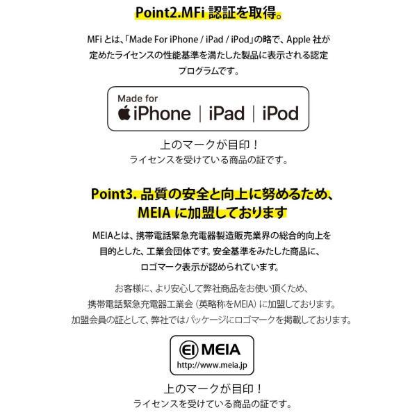 USB Type-C & Lightning USBケーブル 2m ホワイト/ストレート PG-LCC20M02WH|pg-a|03