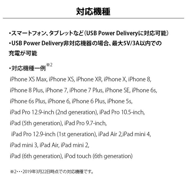USB Type-C & Lightning USBケーブル 2m ホワイト/ストレート PG-LCC20M02WH|pg-a|08