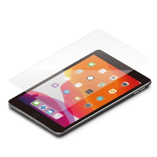 iPad 10.2インチ用 液晶保護ガラス スーパークリア PG-19PADGL01|pg-a|02