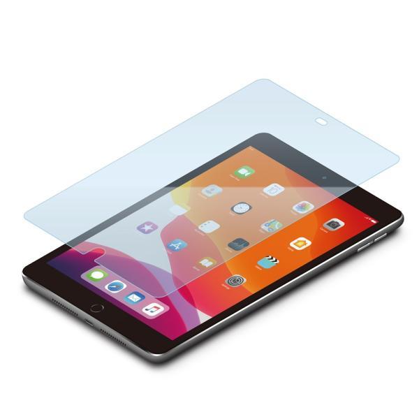iPad 10.2インチ用 液晶保護ガラス ブルーライト PG-19PADGL03 pg-a 02