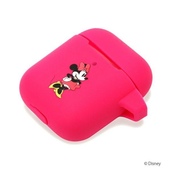 Air Pods充電ケース用 シリコンカバー [ミニーマウス]|pg-a