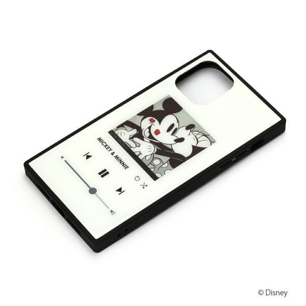 iPhone 11 Pro用 ガラスハイブリッドケース [ミッキーマウス/ホワイト]