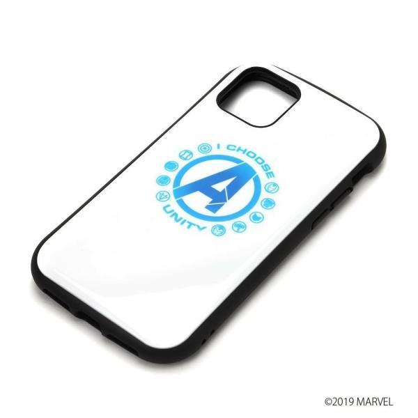 iPhone 11 Pro Max用 ハイブリッドタフケース [アベンジャーズ/ホワイト]