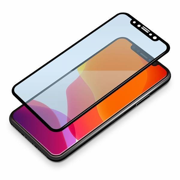 iPhone 11 Pro用 治具付き 3Dダブルストロングガラス ブルーライト低減|pg-a|02