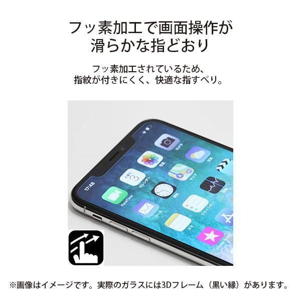 iPhone 11 Pro用 治具付き 3Dダブルストロングガラス ブルーライト低減|pg-a|08