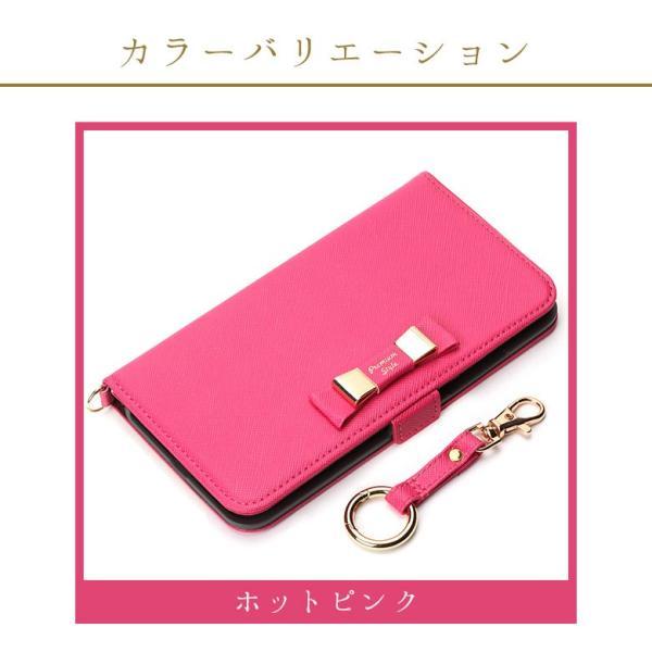 iPhone8Plus/7Plus フリップカバー ダブルリボンリボン 手帳 かわいい|pg-a|04