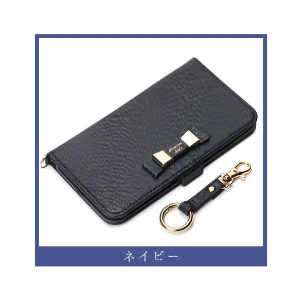 iPhone8Plus/7Plus フリップカバー ダブルリボンリボン 手帳 かわいい|pg-a|05