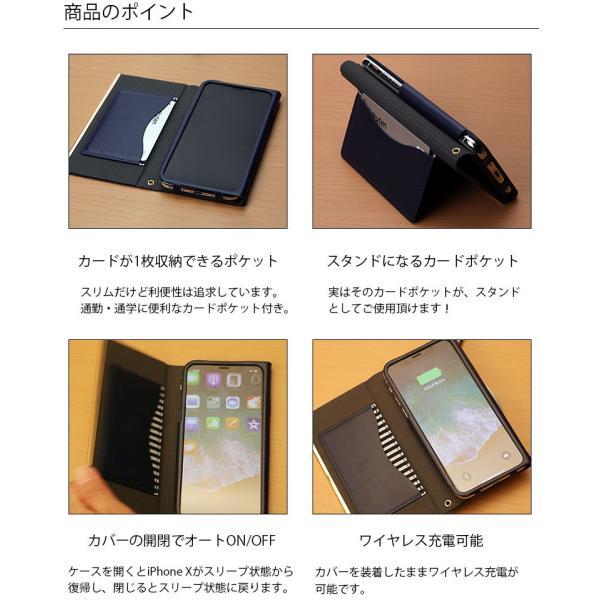 iPhoneX オールPUレザーフリップカバー For girlsオートスリープ 手帳型 かわいい  pg-a 03