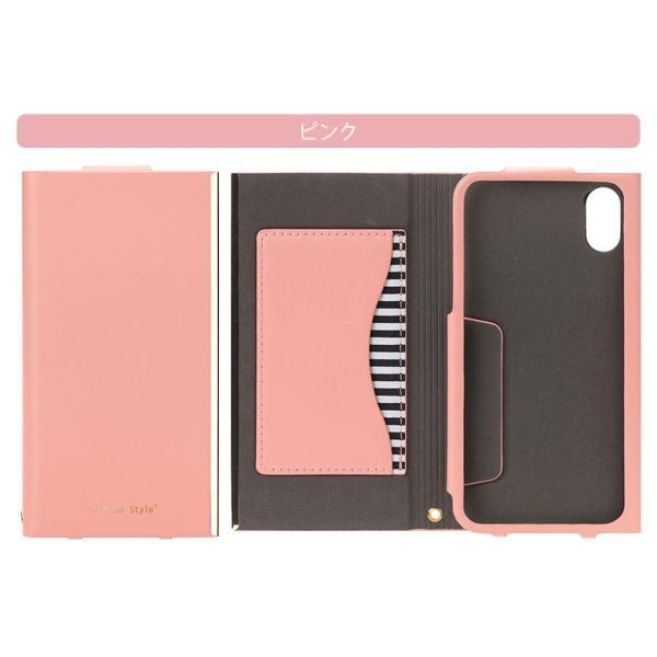 iPhoneX オールPUレザーフリップカバー For girlsオートスリープ 手帳型 かわいい  pg-a 06