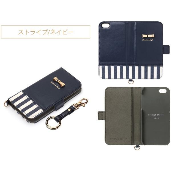 iPhoneSE/iPhone5s/iPhone5用ケース for girls フリップカバー 手帳型 リボン pg-a 06