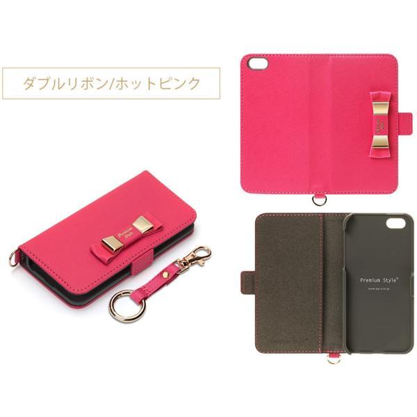 iPhoneSE/iPhone5s/iPhone5用ケース for girls フリップカバー 手帳型 リボン pg-a 07