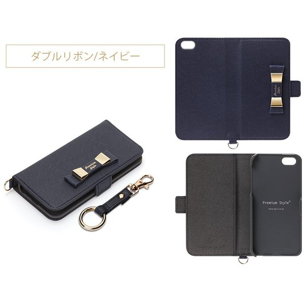 iPhoneSE/iPhone5s/iPhone5用ケース for girls フリップカバー 手帳型 リボン pg-a 08