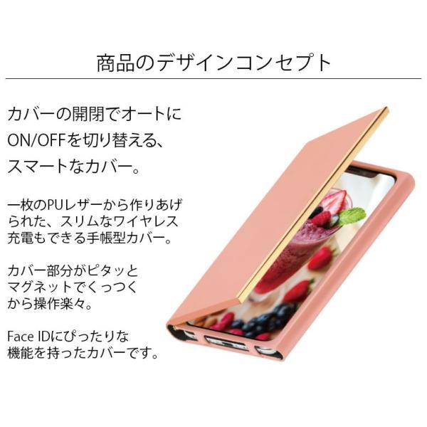 iPhone Xs/X用 オールPUレザーフリップカバー|pg-a|02