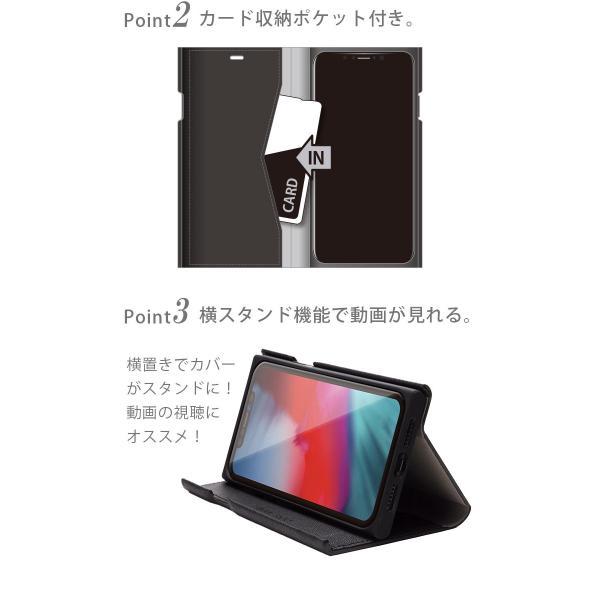 iPhone XS MAX用 タフフリップカバー|pg-a|03